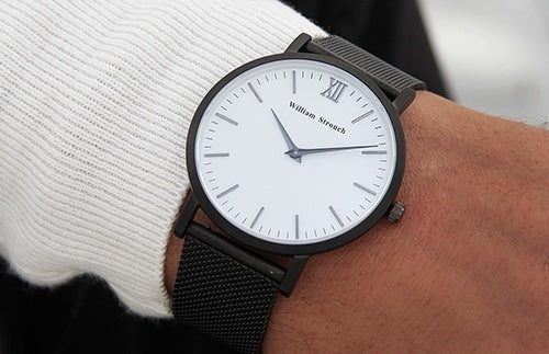 William Strouch Watch - SPACE GREY + LEATHER STRAP