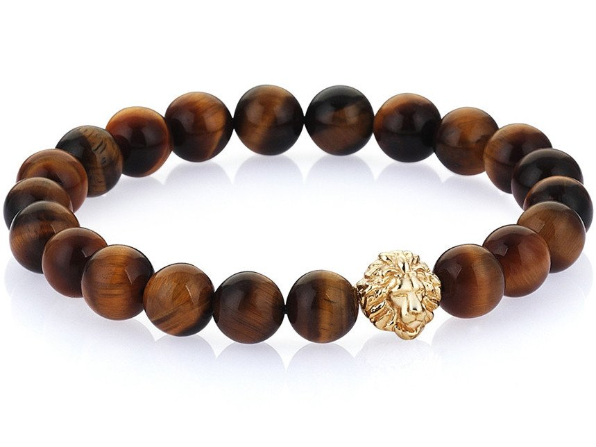 Atolyestone Bracelet - 18K GOLD LION TIGER EYE