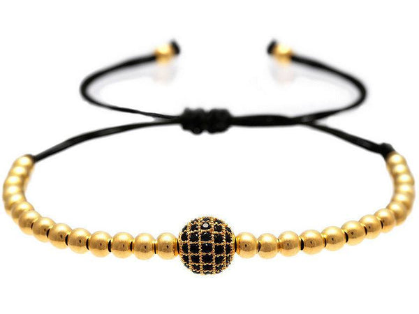 Atolyestone Bracelet - 18K YELLOW GOLD DIAMONDS BALL