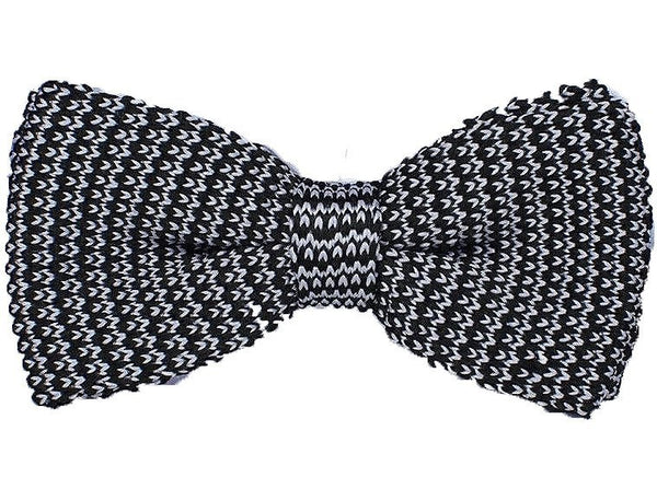 Bow Tie - Knit Bow Tie Navy White