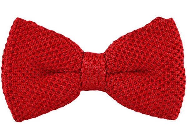 Bow Tie - Knit Bow Tie Red