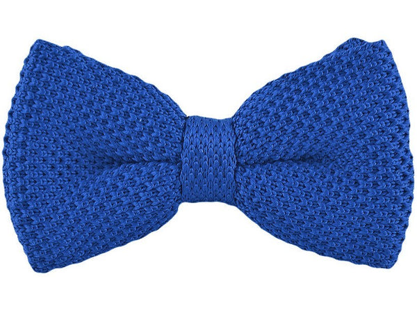 Bow Tie - Knit Bow Tie Royal Blue