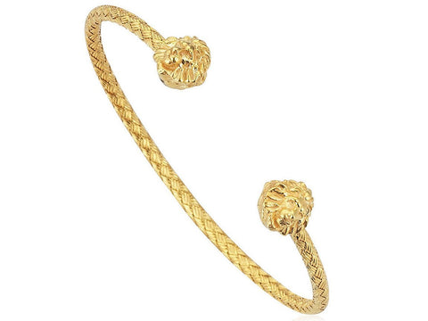 Bracelet - 18K YELLOW GOLD BRAIDED BANGLE