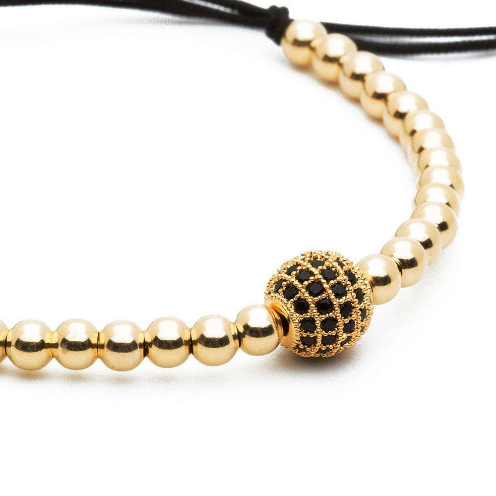 Bracelet - 18K YELLOW GOLD DIAMONDS BALL