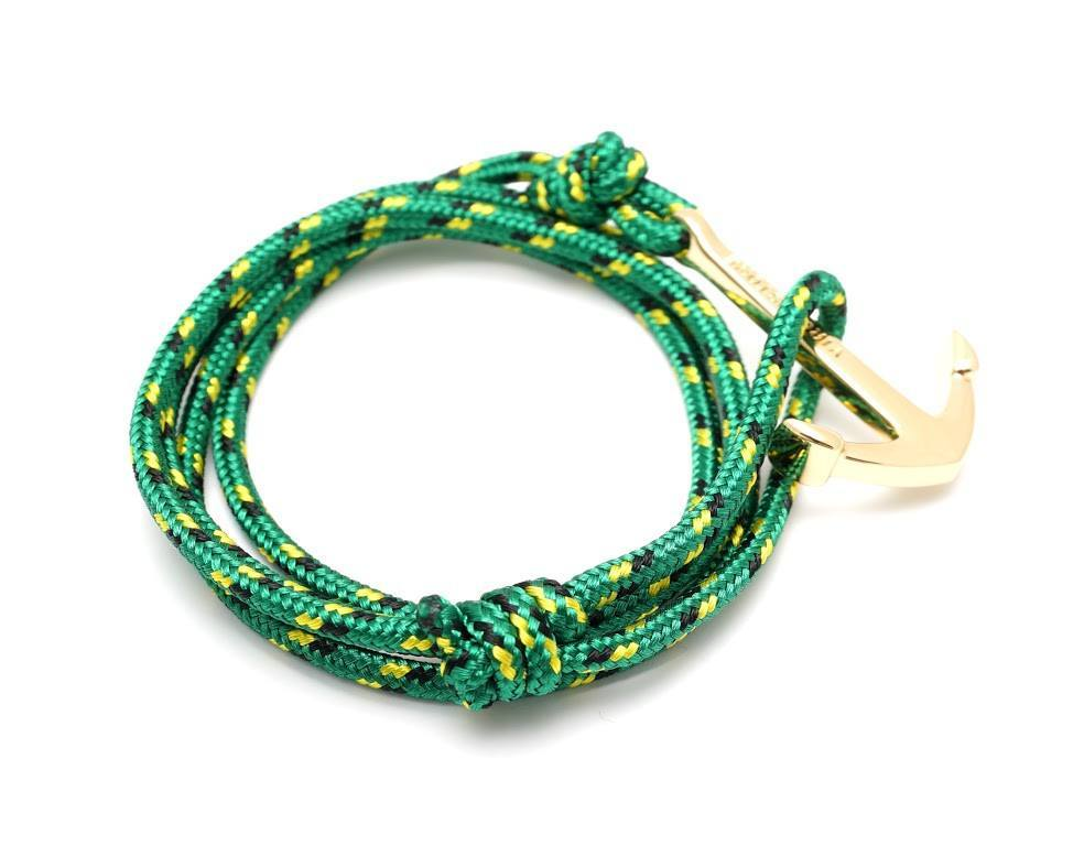 virginstone Bracelet - Anchor Bracelet Green / Gold