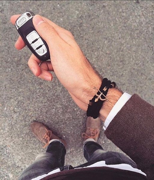 ranco florenzi Bracelet - Venice Nero car keys