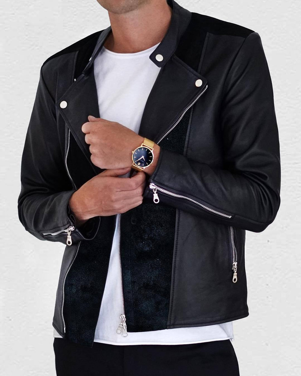 Jacket - LEATHER JACKET BLACK