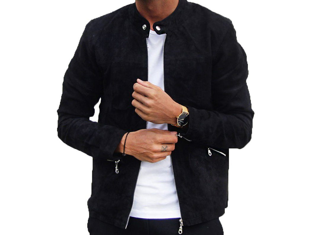 Jacket - SUEDE JACKET BLACK