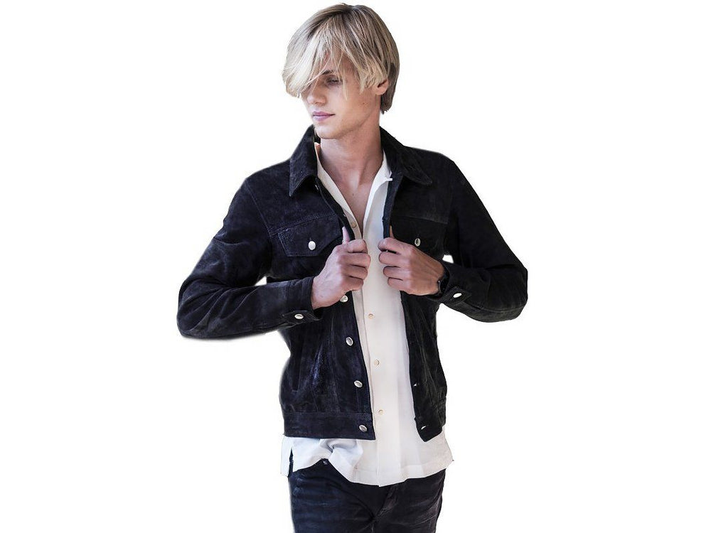 Jacket - SUEDE JACKET DARK GREY