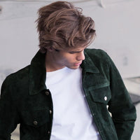 Jacket - SUEDE JACKET GREEN