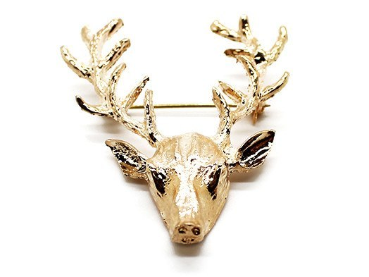 Lapel Pin - Deer Pin GOLD