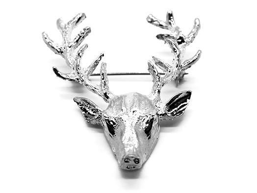Lapel Pin - Deer Pin SILVER