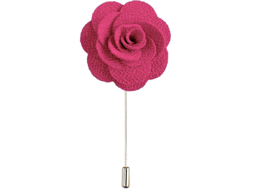 Lapel Pin - Lapel Flower Dark Pink