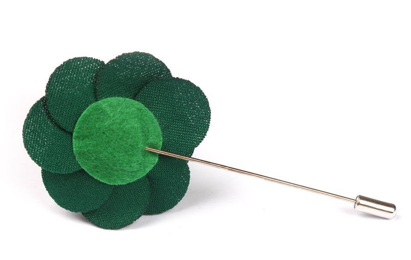 Lapel Pin - Lapel Flower Green