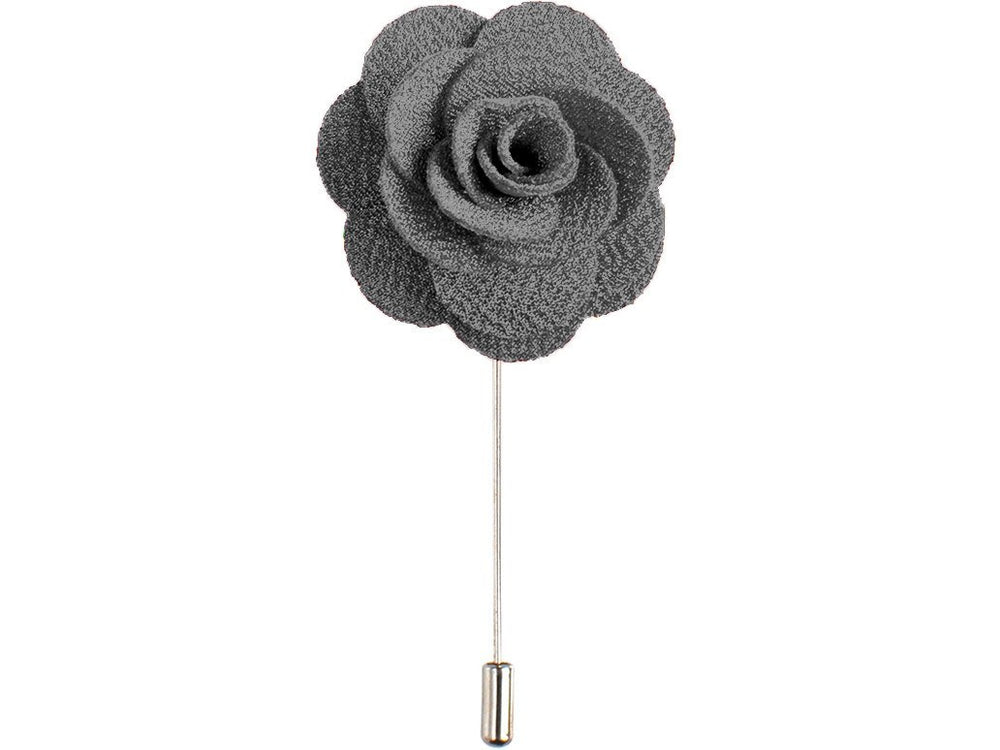 Lapel Pin - Lapel Flower Grey