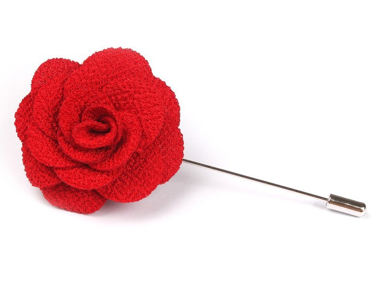 Lapel Pin - Lapel Flower Red
