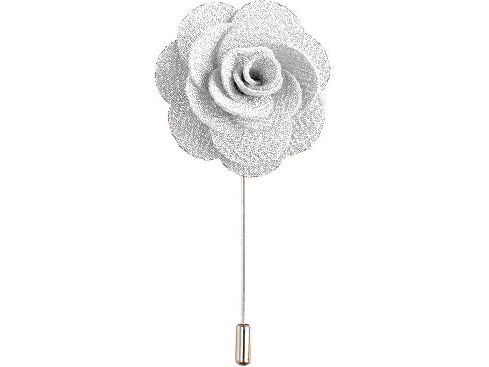 Lapel Pin - Lapel Flower White