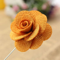 Lapel Pin - Lapel Flower Yellow