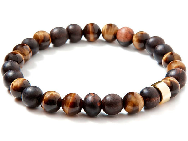 Liel and lentz Bracelet - 14K GOLDEN TIGER EYE