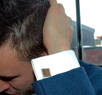 Liel and Lentz Cufflink - 925K SILVER BROWN BURL