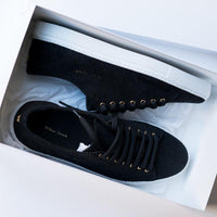 Shoes - BLACK CORDUROY SNEAKERS