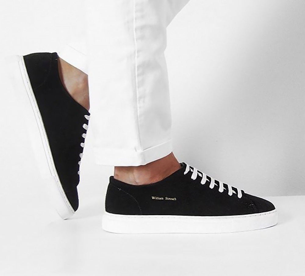 Shoes - BLACK SUED CLASSIC SNEAKER