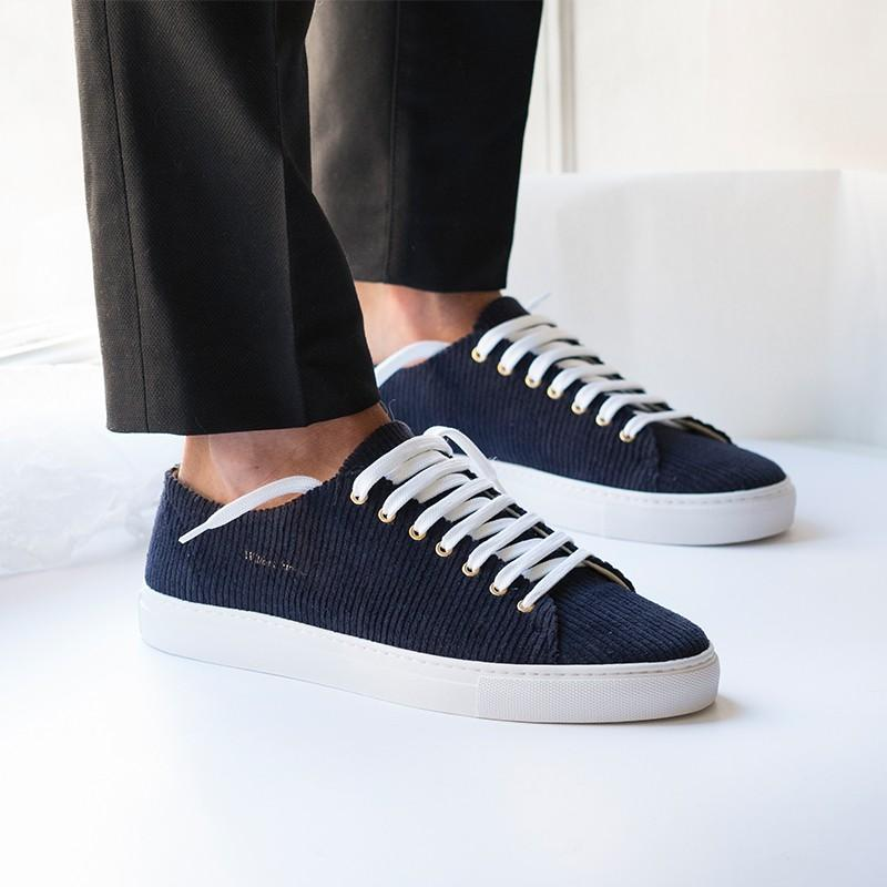 Shoes - NAVY CORDUROY SNEAKERS