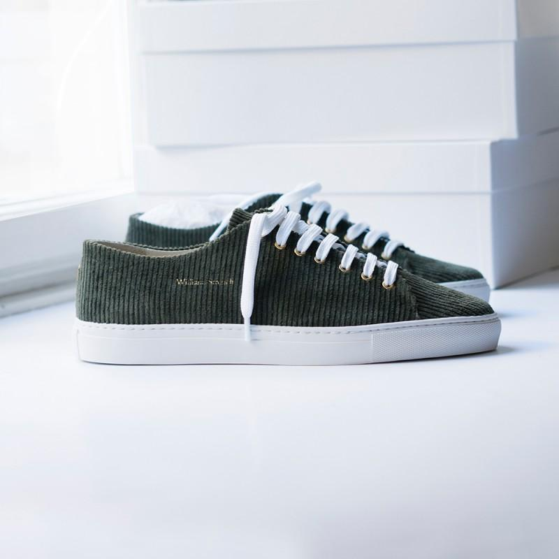 Shoes - OLIVE CORDUROY SNEAKERS