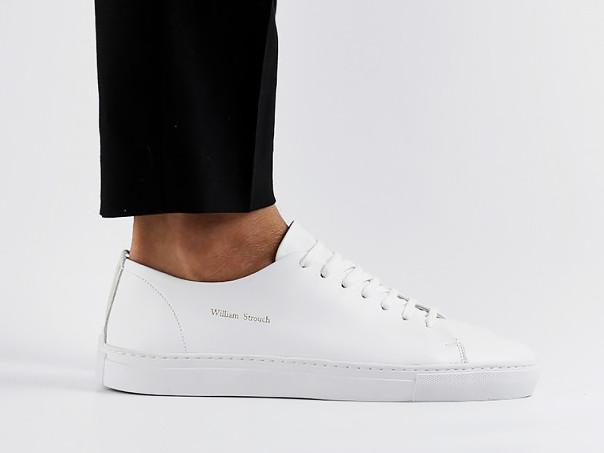 WHITE LEATHER CLASSIC SNEAKERS – MyLapel