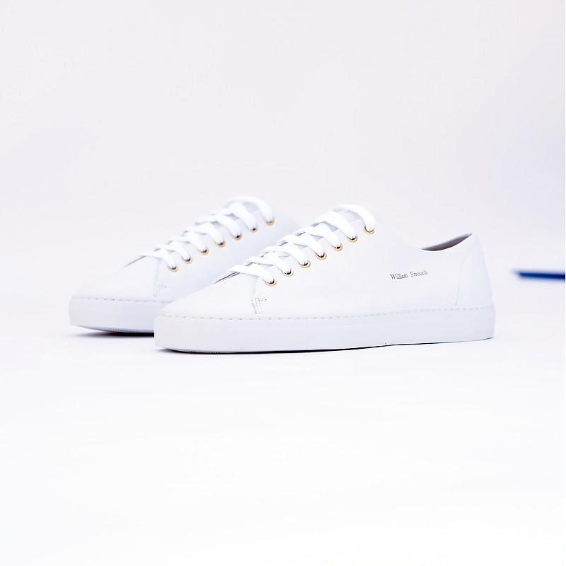 Shoes - WHITE LEATHER SNEAKERS + LACES