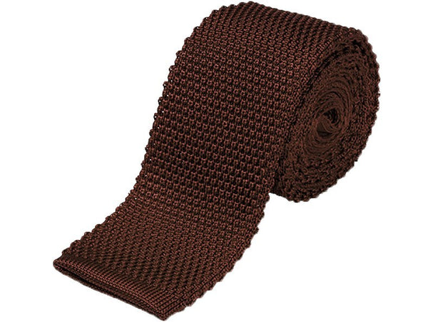 Tie - Knit Tie Brown