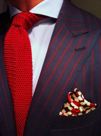 Tie - Knit Tie Red