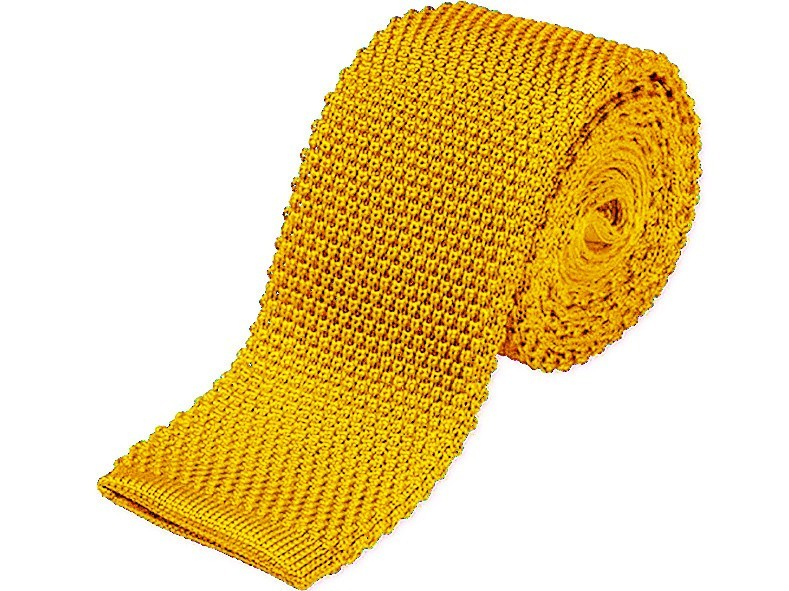 Tie - Knit Tie Yellow