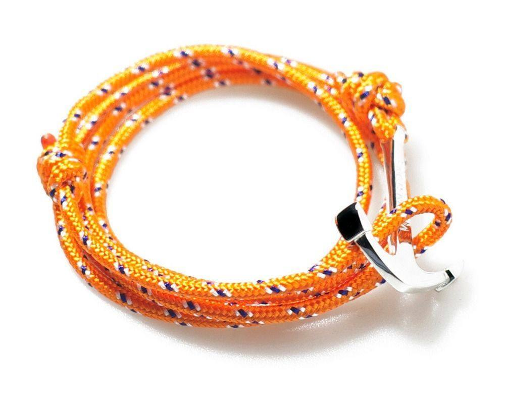 virginstone Bracelet - Anchor Bracelet Orange / Silver