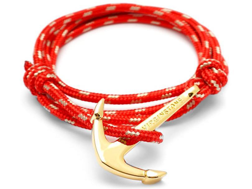 Bracelet - Anchor virignstone Bracelet Red / Gold