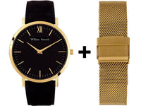 Watch - CLASSIC BLACK + GOLD STRAP