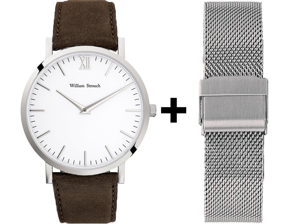 Watch - CLASSIC BROWN + SILVER STRAP