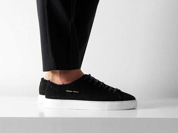William Strouch Shoes - BLACK CLASSIC SNEAKER sko skor
