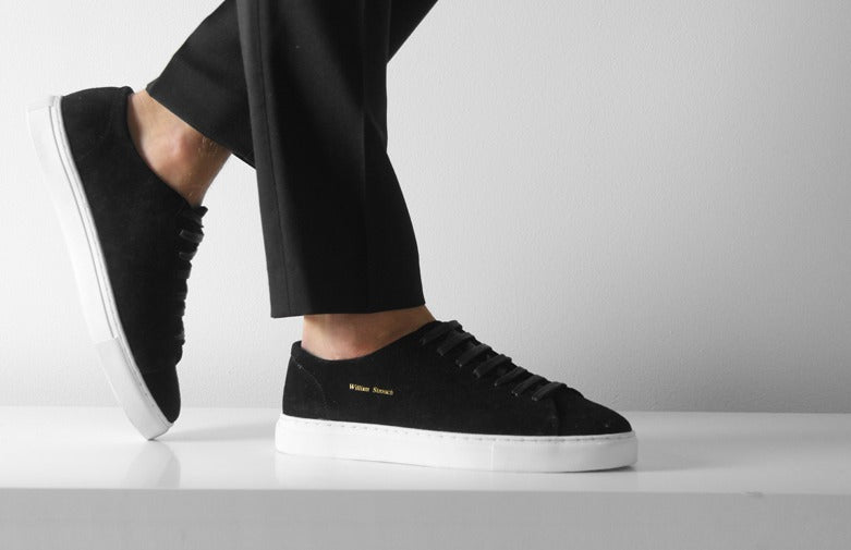 William Strouch Shoes - BLACK CLASSIC SNEAKER