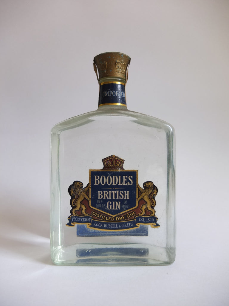 Boodle's British Gin, by Cock, Russell & Co., Ltd. - 1970s (40%, 114cl)