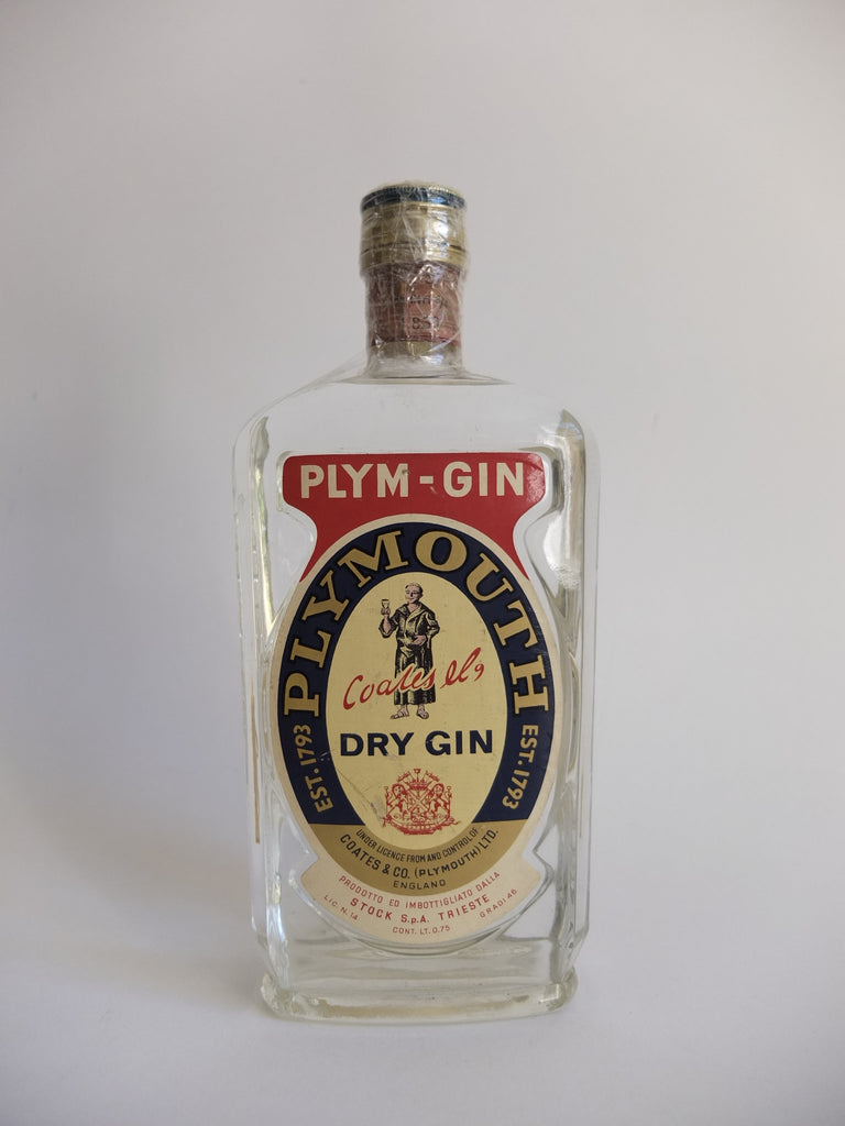 Coates & Co.'s Plym-Gin Dry Gin - Late 1960s/Early 1970s (46%, 75cl)