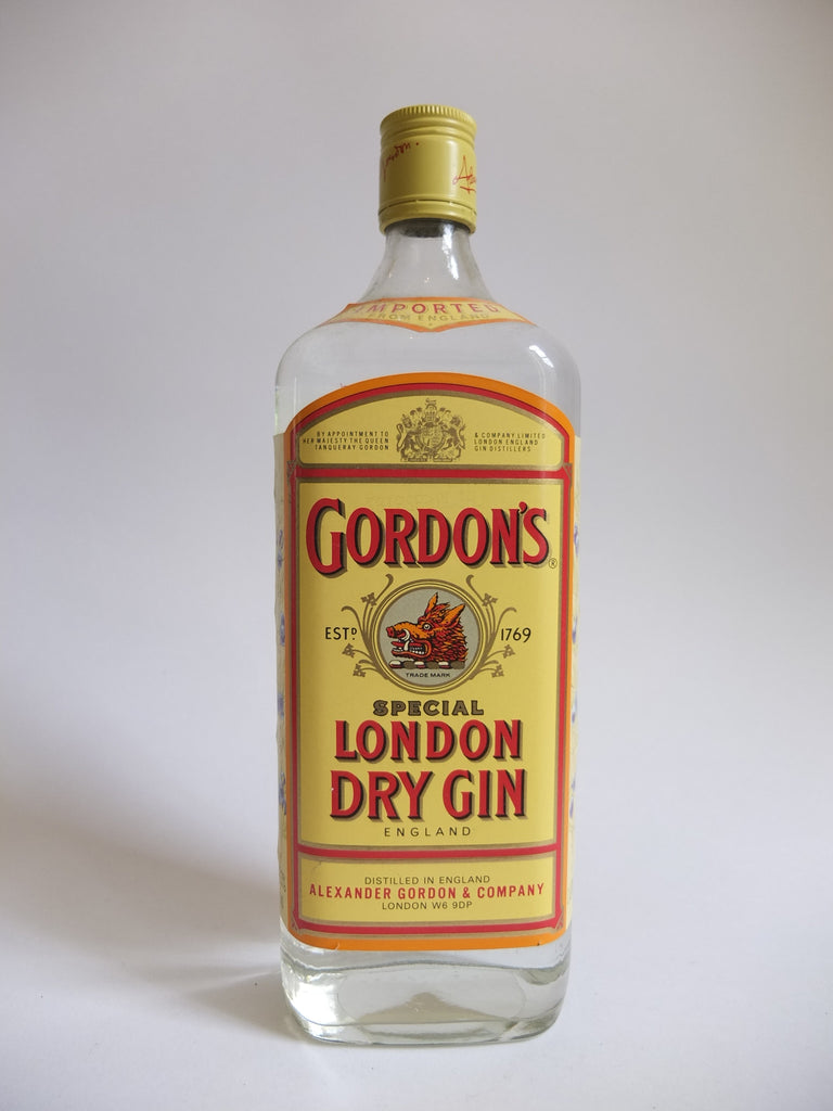Gordon S Special London Dry Gin 1980s 47 3 100cl Old Spirits Company