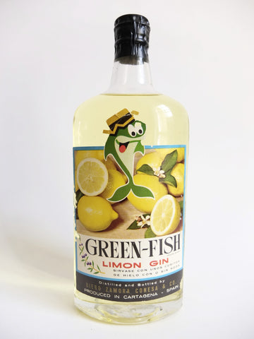 Green-Fish Limon Gin - Early 1960s (ABV Not Stated, 75cl)