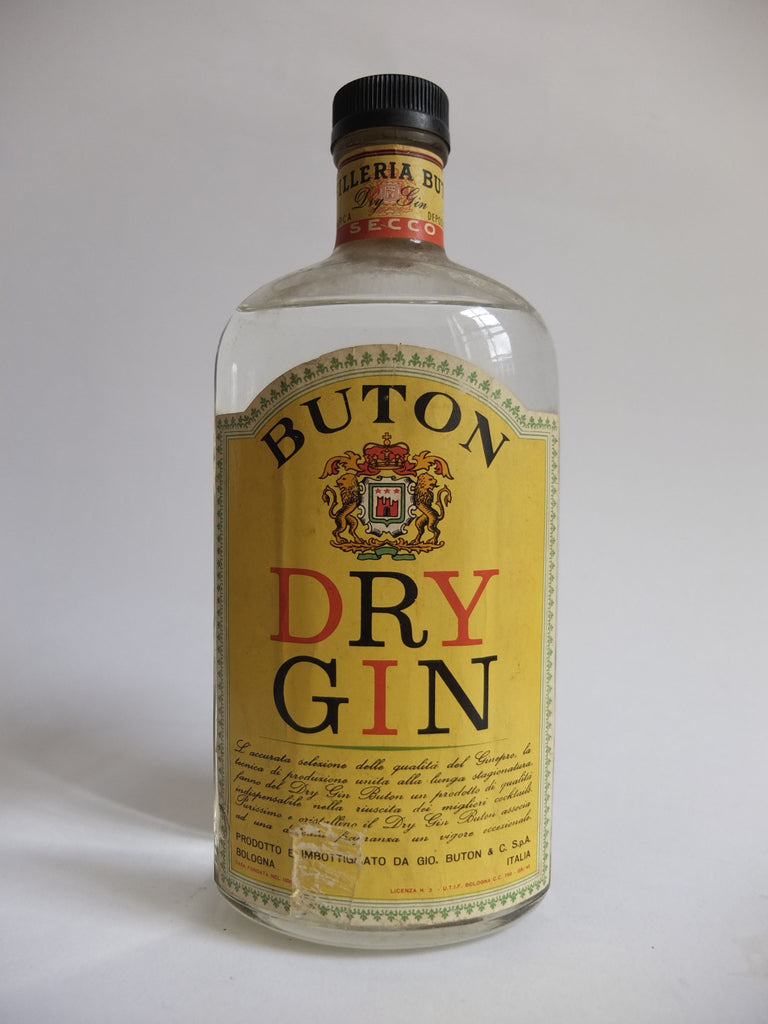 Buton Dry Gin - 1950s (45%, 75cl)