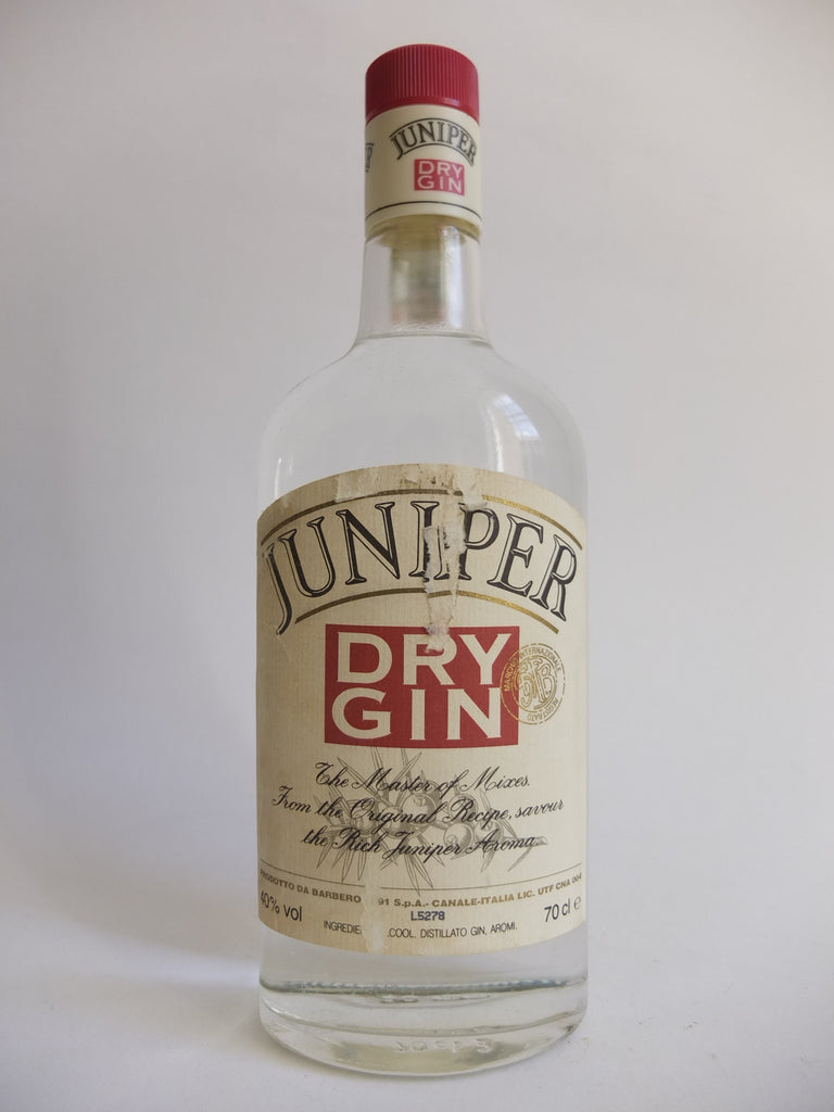 Barbaro Juniper Dry Gin -1980s (40%, 70cl)