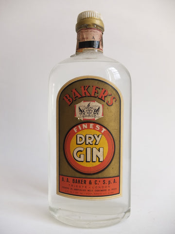 A.A. Baker's Finest Dry Gin - 1960s (43%, 75cl)