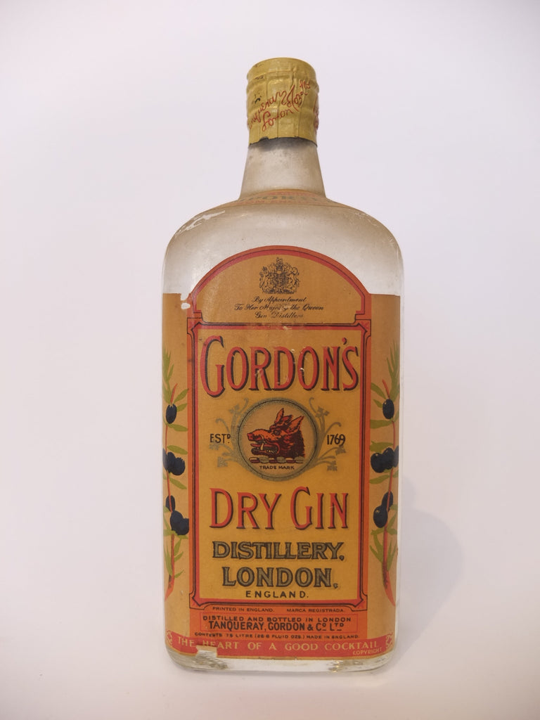 Gordon's Dry Gin (Export) - 1950s (47.3%, 75cl)