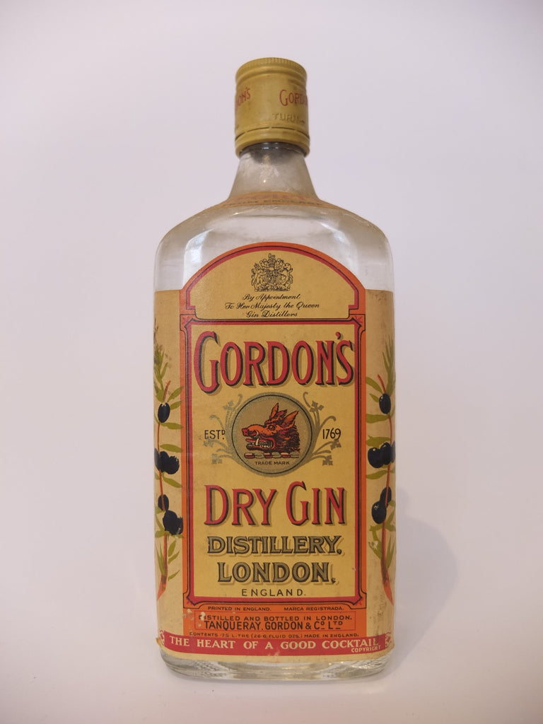 Gordon's Dry Gin (Export) - 1960s (47.3%, 75cl)