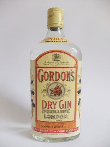 Gordon's Dry Gin (Export) - 1970s (40%, 75cl)