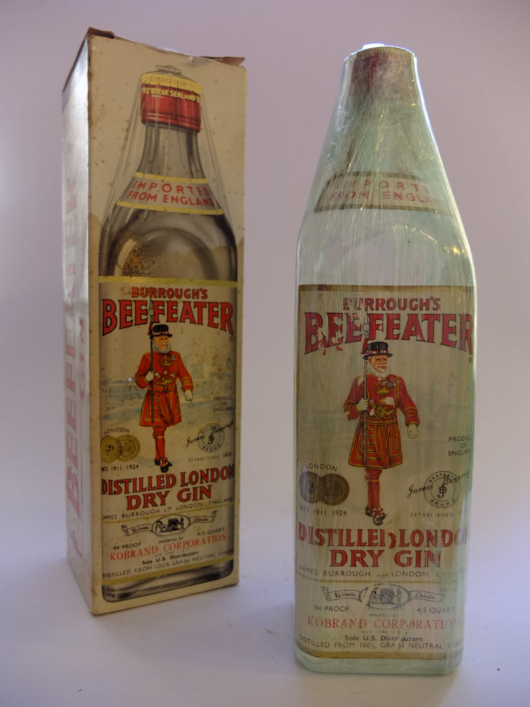 Beefeater Distilled London Dry Gin (US) 'Boxed' - pre 1964	(47%, 75.7cl)